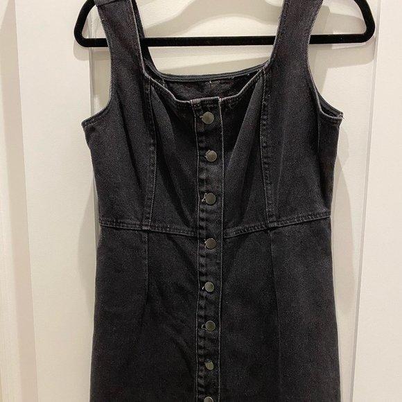 Denim Button Up Dress - Urban Outfitters